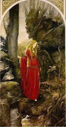 Olwen's themes are the arts, creativity, excellence and the sun. Her symbols are late-blooming flowers, red and gold items and rings.  A Welsh sun Goddess whose name means 'golden wheel', Olwen overcame thirteen obstacles to obtain Her true love (symbolic of thirteen lunar months) and She teaches us similar tenacity in obtaining our goals.