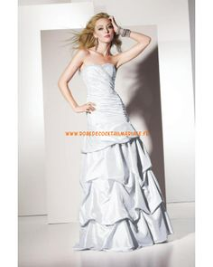 Belle robe sans bretelle au drapé avec cristaux robe de soirée 2013 taffetas