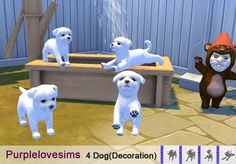 Sims 4 dog No.2 [S4CC]Sims 4 dog / Decoration Download