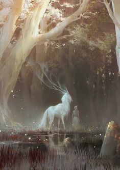 the feywild kunst art Mythical Creatures Art, Magical Creatures, Art Anime, Fantasy Inspiration, Fantasy Landscape, Fantasy Artwork, Fantasy Paintings, Amazing Art, Awesome