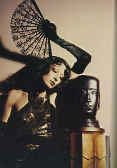 1973-74 - Angelica Huston in Karl Lagerfeld for Chloe by David Bailey
