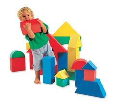 Edushape Giant Blocks - 16 Piece Set - SensoryEdge