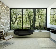 cool 125 Fancy Modern Tub Bathroom Decor Ideas https://homedecort.com/2017/04/fancy-modern-tub-bathroom-decor-ideas/