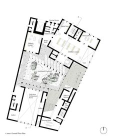 Daegu Gosan Public Library, Feilden Clegg Bradley, Good use of subtle texture in plan Angular Architecture, Library Architecture, Paper Architecture, Architecture Concept Drawings, Museum Architecture, Architecture Plan, Home Design Plans, Plan Design, Library Floor Plan