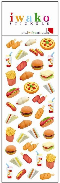 iwako eraser chocky collection 60 pieces take apart erasers pinterest doll food ag dolls and dolls