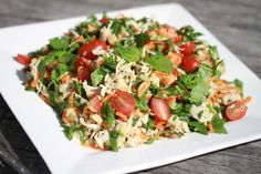 Thai style chicken & coconut salad - using a Thermomix to shred the chicken makes this salad so much less labor intensive Asian Recipes, Healthy Recipes, Ethnic Recipes, Healthy Breakfasts, Healthy Salads, Easy Recipes, Healthy Food, Bellini Recipe, Chicken Breast Fillet
