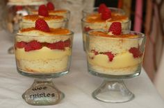 wee trifles for a cornish fairy party Trifle Dish, Trifle Desserts, Cold Desserts, Party Desserts, Dessert Party, English Trifle, Bowl Cake, Truffle Recipe, Angel Food Cake