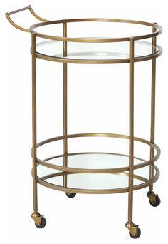 Antique Brass Bar Cart
