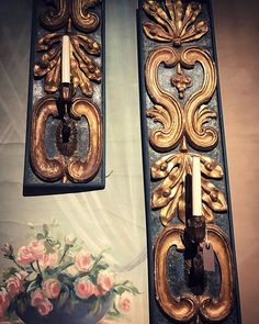Beautiful pair of Italian C18th wood panel wall lights ⠀ ⠀ #walllights #italian #wood #carving #c18 #antiques #antique #art #artwork #interiorstyle #interiors #lovedecor #decor #interiorstyling #interiorsinspo #interiorinspo #beauty #alittlebeautyeveryday #finditstyleit #antiquesdealersofinstagram #antiquesdealer #flashesofdelight #luxuryrealestate #luxuryhomes #designsponge #interiorstyle  #colourful #gameoftones #chasinglight - posted by Annabella https://www.instagram.com/ab.living - See…