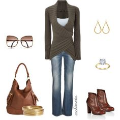 cable mock wrap jumper - Polyvore