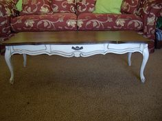 distressed redone coffee table