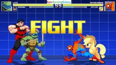 Spider-Man And Applejack VS Leonardo And Wonder Man In A MUGEN Match / Battle / Fight This video showcases Gameplay of Spider-Man The Superhero And Applejack From The My Little Pony Friendship Is Magic Series VS Leonardo From The Teenage Mutant Ninja Turtles / TMNT Series And Wonder Man The Superhero In A MUGEN Match / Battle / Fight