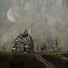 It's always something... by jamie heiden, via Flickr.  This painted picture would be a fun base for a Halloween scene. ATC, tag, card, scrapbook, journal.