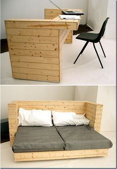 Pallet wood, multipurpose and space saving, natural look and feel...