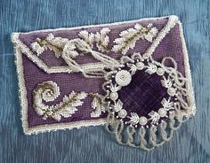 English Beadwork Pincushion & purse - Theriault's Antique Doll Auctions