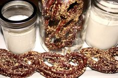 Holiday Fudgy Dipped Pretzels