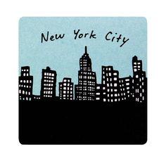 Design Pattern: 「212 Skyline」  212 Coasters Set of 10