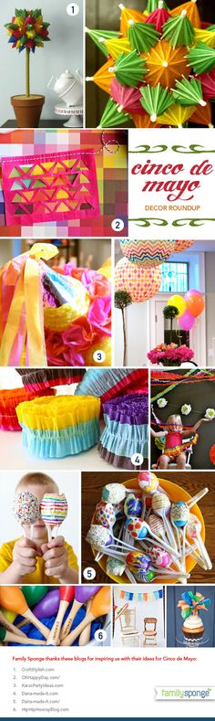 Cinco de Mayo party ideas: I love the fun colors.