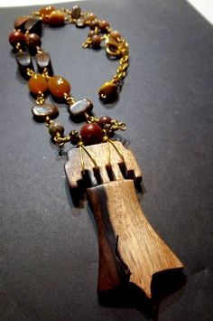 Liberty Bell and agate statement necklace set by LauraStaley, $75.00