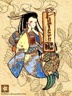 Japanese Capricorn by ~faithfair on deviantART