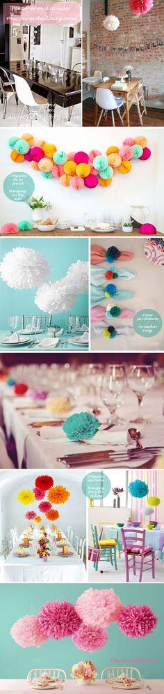 Idea-low-cost-DIY-Decora-con-pompones-Decorate-with-pompons_comedores.jpg 640×2.700 pixels