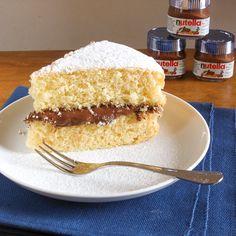 Yellow cake with Nutella (Ciambellone soffice con Nutella) - AN ITALIAN IN MY KITCHEN