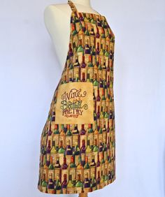 Wine is Bottled Poetry Reversible Apron  by 4EverydayEmbellished, $33.00