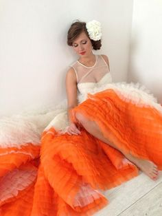 Orange And White Wedding Color Inspiration Bold Amazing Dress Summer Theme