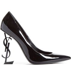 e08816db3e5 Dare to defy gravity in this standout patent-leather pump featuring a  structural