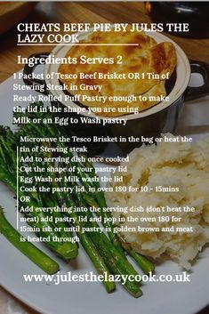 Posts about Evening Meal written by julessmithie Pie Recipes, Brunch Recipes, Easy Dinner Recipes, Easy Recipes, Recipies, Cooking Recipes, Slow Cooker Chilli, Slow Cooker Recipes, Stewing Steak