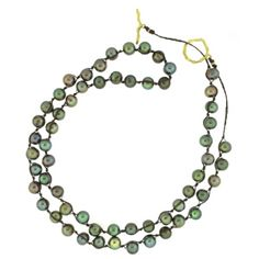A nice gift option for the hollidays, this pearl necklace wraps twice around, or wear it long.     large freshwater cultured pearls on hand braided GORTEX by Guy Lovin.    $150 Women's Jewelry, Bridal Jewelry, Jewelry Making, Cultured Pearls, Artisan Jewelry, Pearl Necklace, Best Gifts, Guy, Wraps