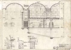 Kimbell Art Museum wall section (1970) | Louis Kahn