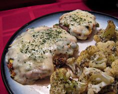 Baked, Chicken-Stuffed Portabella Mushrooms