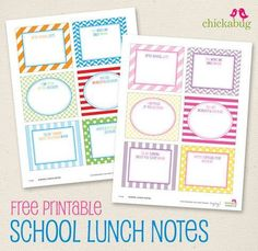 My kids thought this was a fun surprise in their lunch! I was happy it made them smile:)  Free Printable School Lunch Notes