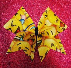 Emoji Bow by Just Cheer Bows