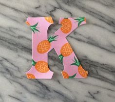 1 Set Iron on Greek Letters  pink pineapple by GirlieGreek on Etsy
