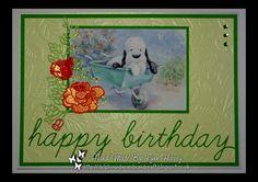 Delphinoid's Cards and Craft: Birthday Card - Barkley in the Wheelbarrow
