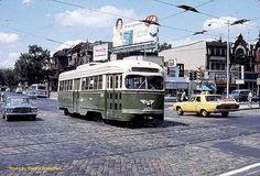 Yellow Cab passes a PTC trolley. Vintage Comic Books, Vintage Comics, Historic Philadelphia, Light Rail, Public Transport, Locomotive, Transportation, Old Things, Cheesesteak
