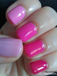 STRIPLAC - TWIN coat + Gabriela Salvate (119) + Essence Color&Go (106 free hugs) + Astor Fashion Studio (230 vibrant anemone) + Maybelline Mini Colorama (93 pink graffiti) + Catrice(27 the pinky and the brain)