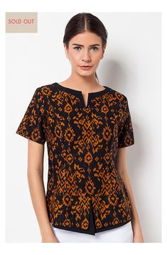 Modern wardrobe essentials wrapped in the infinite beauty and refinement of Batik Heritage. Batik Kebaya, Kebaya Dress, Batik Dress, Blouse Batik Modern, Outer Batik, Batik Fashion, Linen Blouse, Work Attire, Fashion Outfits