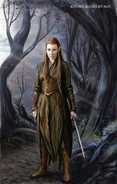 Tauriel, a Silvan Elf by *Simaell on deviantART