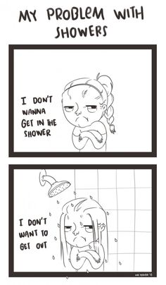 My problems with showers
