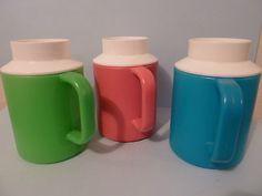 Vintage Retro 1970s Decor 3 Slushy Mugs-freeze & enjoy cold drinks on a hot day