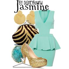 """Jasmine"" by lalakay on Polyvore disney. Omg that dress!"