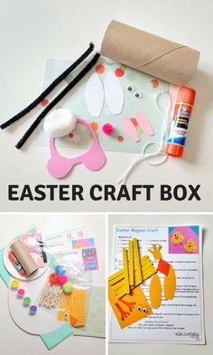 Easter Craft Box for Kids - Easter Gift For KIds -   Easter Crafts For Kids - Kids Easter Crafts - Craft Kits - Kids Craft Kits #kidsactivities #diy #affiliate