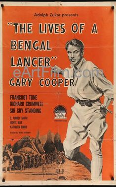"""""""The Lives Of A Bengal Lancer"""" starring Gary Cooper."""