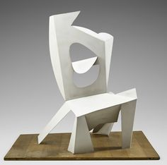 """Pablo Picasso, Chair, 1961, Cannes, painted sheet metal, 45½"""" × 45⅛"""" × 35⅛"""". ©2015 ESTATE OF PABLO PICASSO/ARTISTS RIGHTS SOCIETY (ARS), NEW YORK/MUSÉE NATIONAL PICASSO, PARIS"""