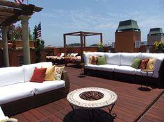 Rooftop contemporary patio