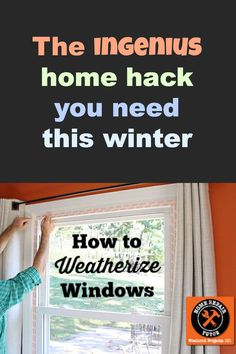 Keep you energy bill low and your house warm--perfect trick! - our windows need replaced ! Always looking for ways to keep it warm during winter ! Energy Saving Tips, Save Energy, Up House, House Windows, Home Repairs, Do It Yourself Home, Diy Home Improvement, Home Hacks, Good To Know