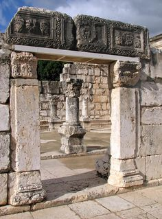 Photo about The Ruins of the Capernaum s Synagogue in Israel. Capernaum was a fishing village on the north shore of the Sea of Galilee in Israel. Image of orthodox, capernaum, kinneret - 13536633 Jewish History, Ancient History, Israel History, European History, American History, Monuments, Israel Travel, Israel Trip, Ancient Ruins